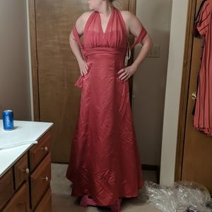 Satin Brides Maid Gown
